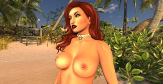 naked walking nude at beach_005